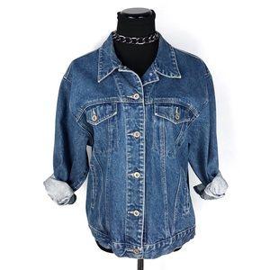 Vintage Bill Blass Oversized Denim Trucker Jacket